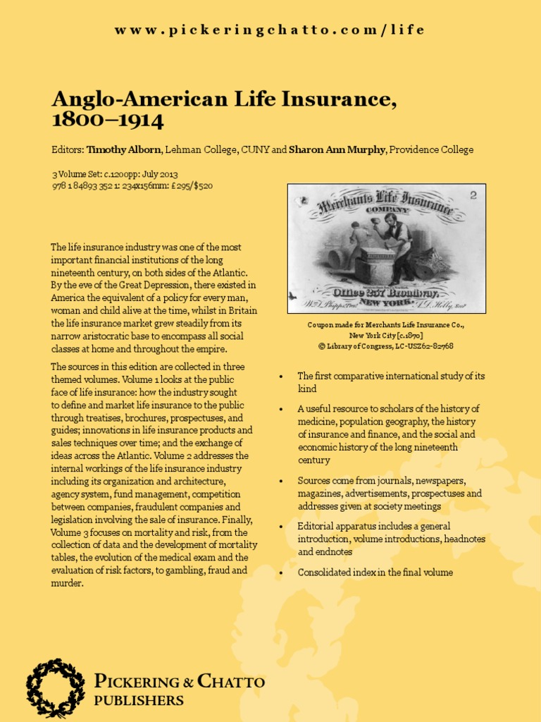regulated lives life insurance and british society 18001914