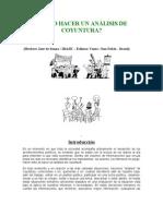 CÓMO HACER UN ANÁLISIS DE COYUNTURA