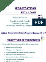 Sales Organizations (Unit - 2)