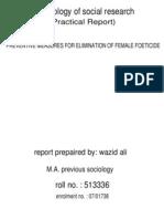 Elimination of Female Foeticide
