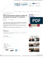 02-03-12 Puebla Online - RMV Pide Celeridad a Gobierno Federal en Entrega de Recursos Por Fin de Sexenio