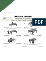 Preposition Sheet