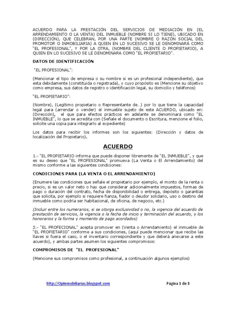 Acuerdo para la prestaci n del servicio de mediaci n for Convenio oficinas