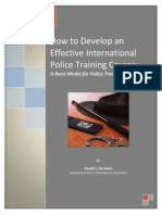 How to Develop an Effective International Police Training Course