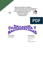 Trabajo de Estado, Ciudadania y Nacionalidad
