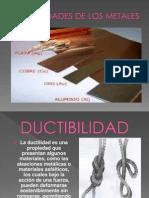 Propiedades de los metales Maria Garcia