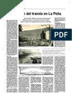 Bilbao. El puente del tranvía en La Peña