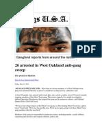 Gangs in the News
