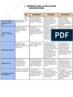 RÚBRICA- Criterios para la evaluación ESCAPARATISMO