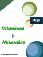 Trabajo Sobre El Estudio de Vitaminas y Minerales