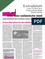 Unsere Alternativen für den städtischen Haushalt 2005/06 (03/2005)