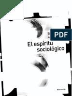 El espíritu sociológico-Bernard Lahire