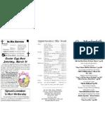 March 18 Bulletin
