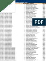 Lista de Inscritos Psicologia 1-2012