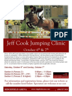 2012 Jeff Cook Clinic Flyer