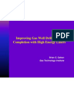 Improving Gas Well Drilling and Completion With High Energy Lasers