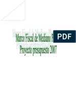 Marco Fiscal de Mediano Plazo 2007