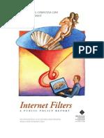 Heins Cho Feldman Internet Filtering Report