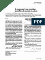Asociación entre tejido graso abdominal y riesgo de morbilidad