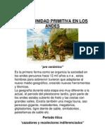 La Comunidad Primitiva en Los Andes