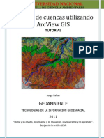 Análisis de cuencas utilizando ArcView GIS tutorial 3 nov_2011
