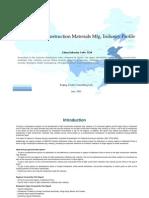 China Light Construction Materials Mfg. Industry Profile Cic3124