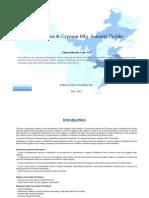 China Lime Gypsum Mfg. Industry Profile Cic3112