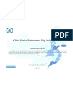China Musical Instruments Mfg. Industry Profile Cic243