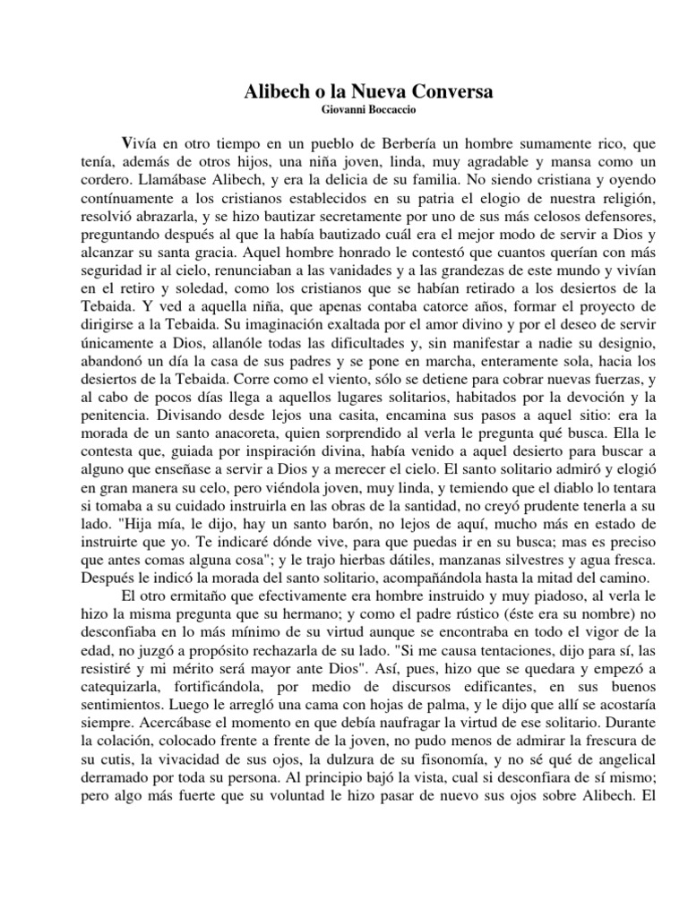 rustico and alibech by giovanni boccaccio Summary of decameron tales a tale from the decameron, by john william this article contains summaries and commentaries of the 100 stories within giovanni boccaccio's the decameron alibech, a non-christian girl of gafsa, turns hermit, and is taught by rustico.