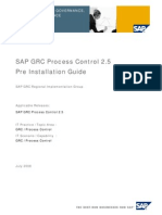 SAP GRC Process Control 2.5 Pre Installation Guide