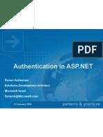 Authaspdotnet Authentication in ASP