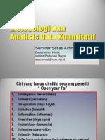 Pengantar Metode Penelitian Kuantitatif
