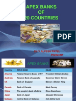 Apex Banks of 20 Countries