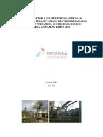 Cover Faktor-faktor yang Berhubungan dengan Pengetahuan Terkait Sarana Proteksi Kebakaran Aktif di PT Pertamina Geothermal Energy Tahun 2012