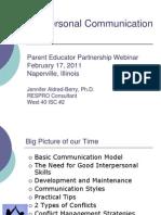 Interpers Commun - Parents