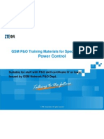GSM ZTE P&O Training Material for Special Subject-Power ControlV2.0