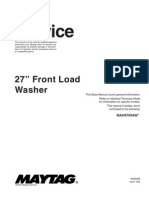 "Maytag 27"" Front Load Washer Service Repair Manual"