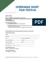 SHORT FILM Entryform
