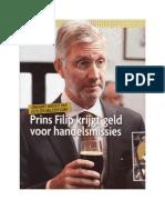 Prins Filip krijgt geld voor handelsmissies