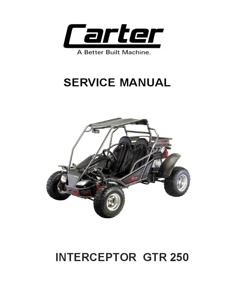 9-Carter Service Manuals GTR250 | Carburetor | Internal Combustion Engine