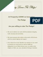 Prosperity Looms15 the Pledge