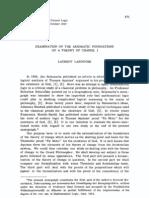 Examination of the Axiomatic Foundations i