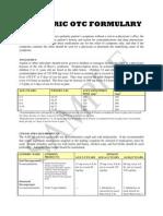 Pediatric OTC Formulary