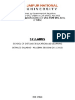 MCA Syllabus Updated