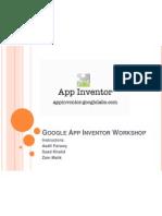 Google App Inventor Workshop