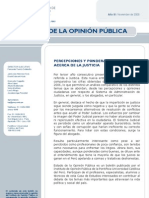 Percepciones y ponderaciones acerca de la justicia en Perú