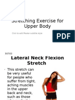 Stretching Exercise for Upper Body