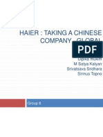 Haier Chinese Company Going Global
