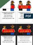 Julian's Lego Invites