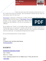 New York Silicon Alley Weekly Newsletter 16-March-2012